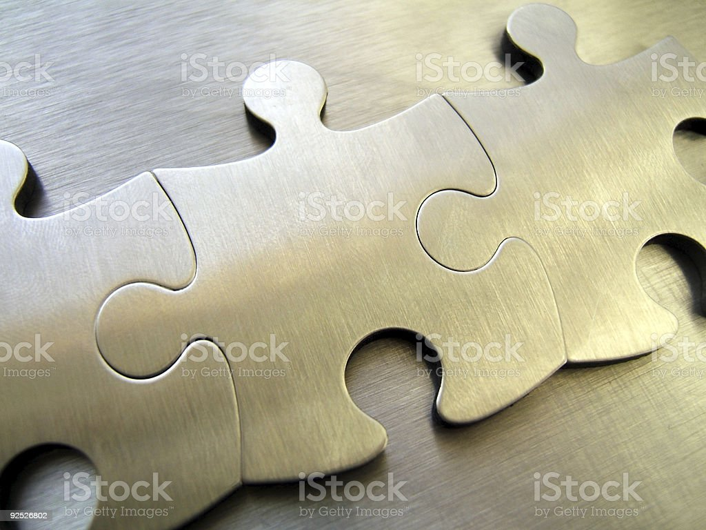 Network jigsaw stock photo
