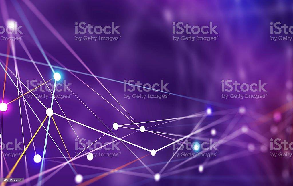 Líneas conectarse a los servidores de red - foto de stock