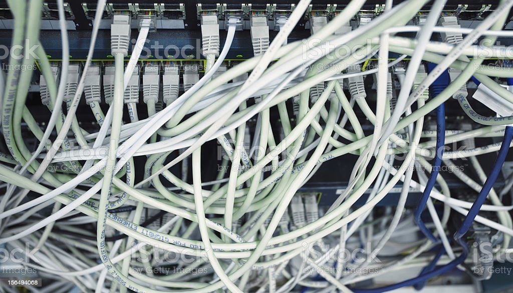 Network mess royalty-free stock photo