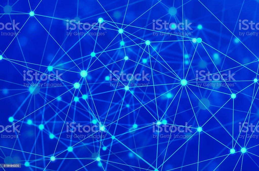network molecules stock photo