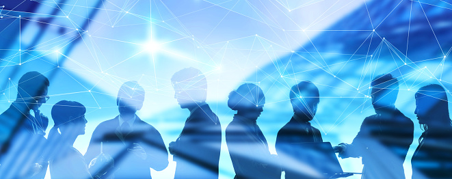 istock Network of business concept. Group of businessperson. 1152951192