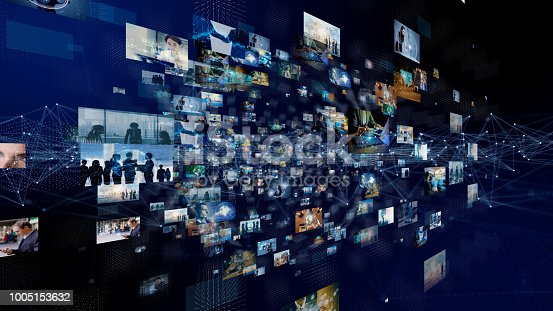 889231072istockphoto Network of business concept. Group of pictures in cyberspace. IoT(Internet of Things). AI(Artificial Intelligence). 1005153632