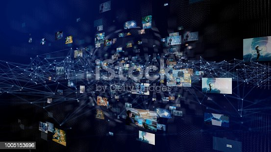 889231072istockphoto Network of business concept. Group of pictures in cyberspace. IoT(Internet of Things). AI(Artificial Intelligence). 1005153696