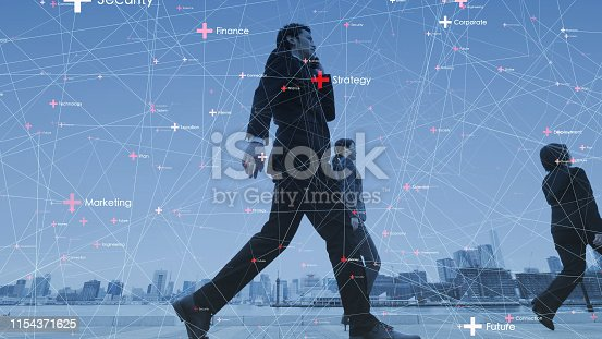 istock Network of business concept. IoT (Internet of Things). ICT (Information Communciation Network). 1154371625