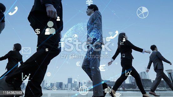 istock Network of business concept. IoT (Internet of Things). ICT (Information Communciation Network). 1154382553