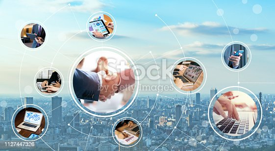 istock Network of business concept. 1127447326