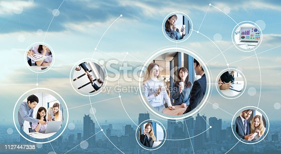 istock Network of business concept. 1127447338