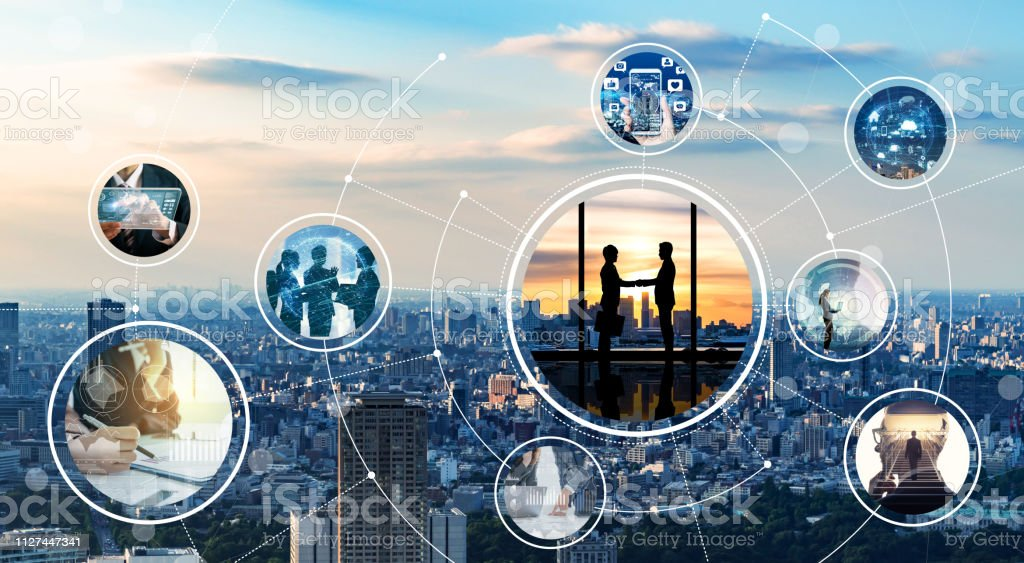 Network of business concept. royalty-free stock photo