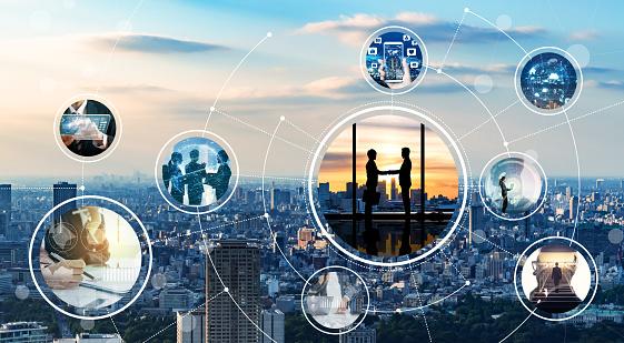 Network Of Business Concept - Fotografias de stock e mais imagens de Adulto