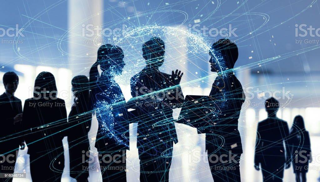ビジネス コンセプトのネットワーク。 ストックフォト