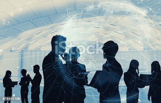 istock Network of business concept. 916441108