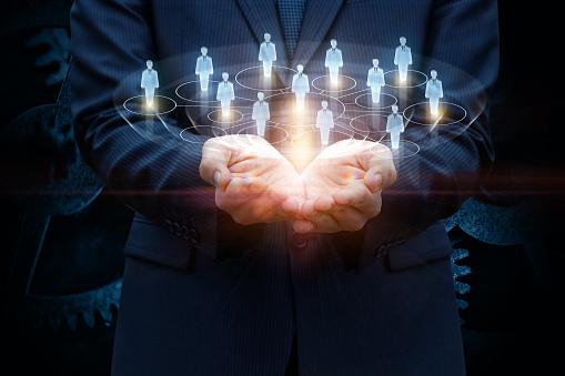 Network Of Consumers In The Hands - zdjęcia stockowe i więcej obrazów Biznes