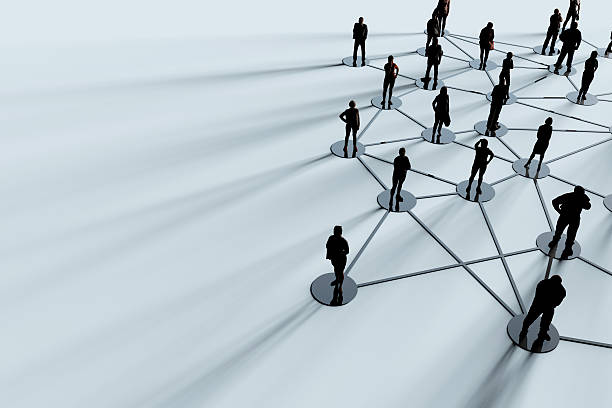 Network of people stock photo
