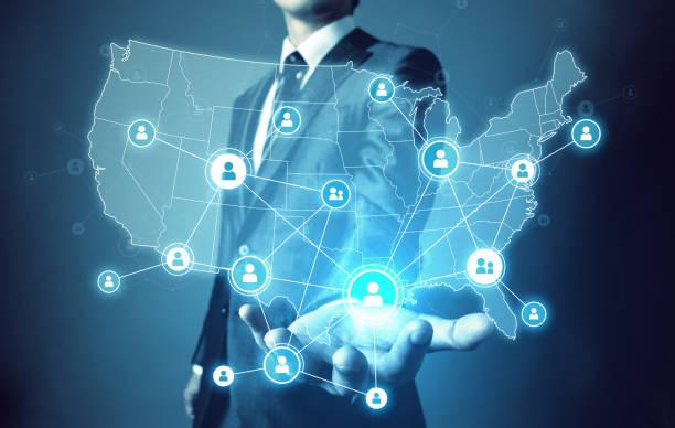 network of the united states of america. - luogo d'interesse nazionale foto e immagini stock