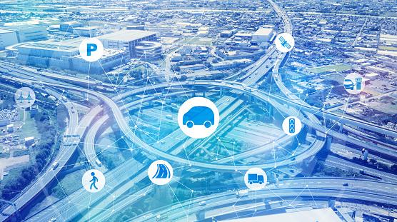 613881746 istock photo Network of transportation concept. 1054574054