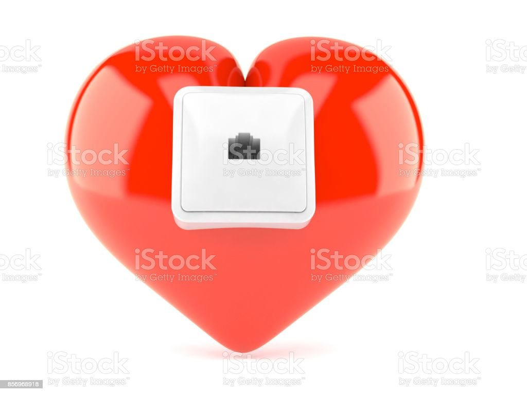 Network outlet on heart stock photo