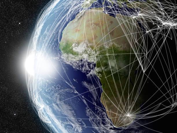 Red de África - foto de stock