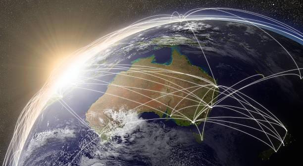 Red de Australia - foto de stock