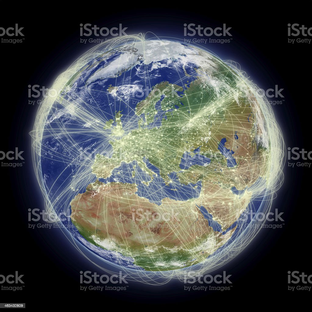 Red de Europa - foto de stock