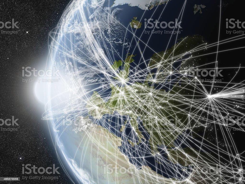Netzwerk über Europa – Foto