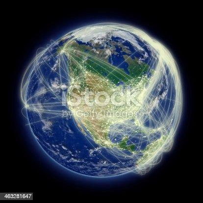 989624498istockphoto Network over North America 463281647