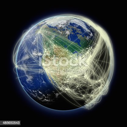 989624498istockphoto Network over North America 485650543
