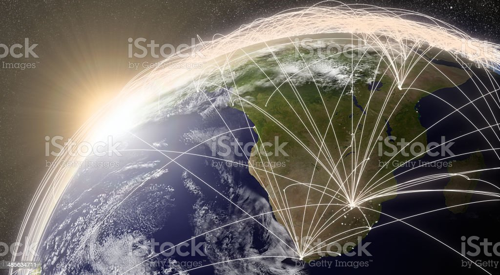 Network over South Africa royalty-free stock photo