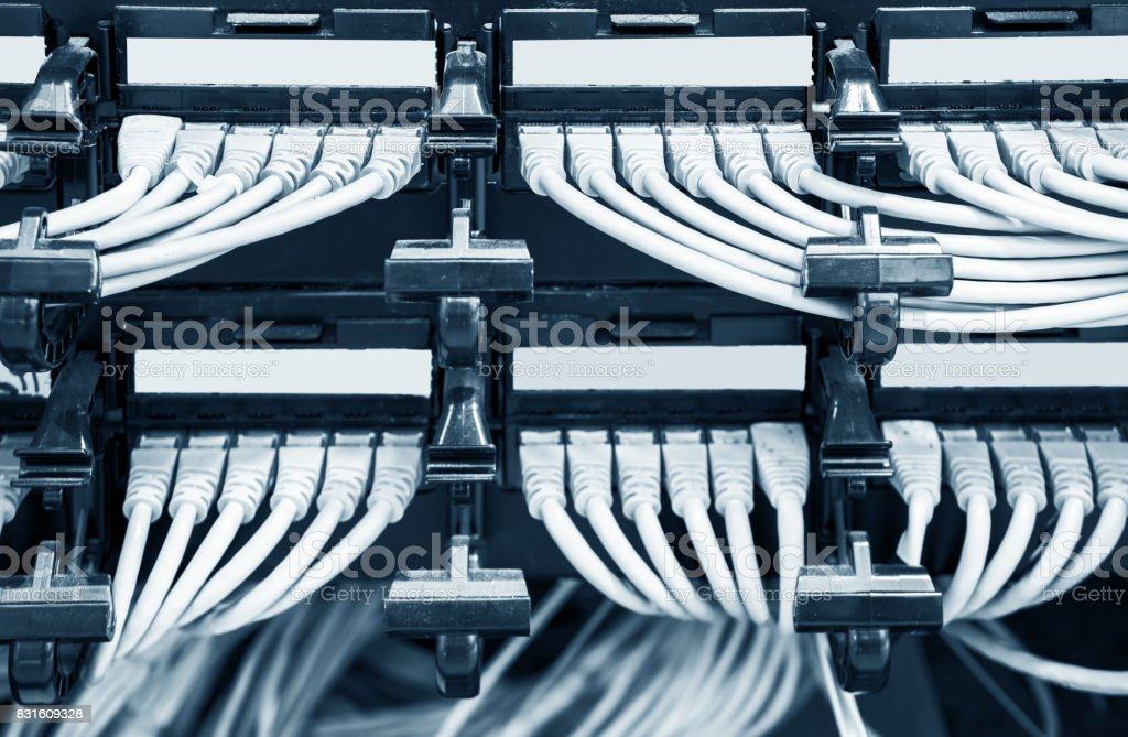Network Panel Switch And Cable In Data Center Stock Photo & More ...