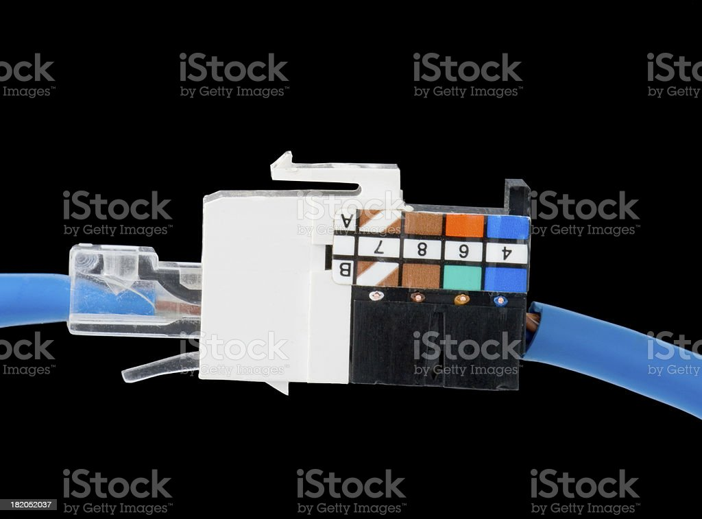 network plug and outlet stock photo