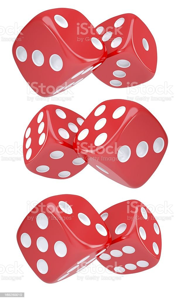 Red dice royalty-free stock photo
