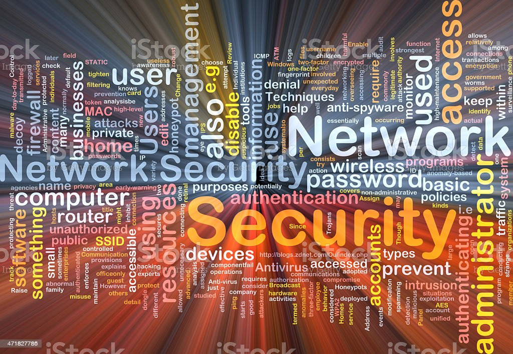 Network security background concept glowing stock photo