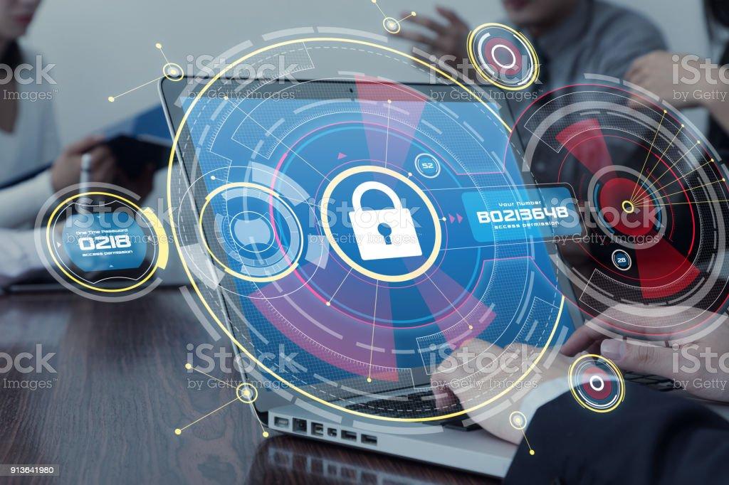 Netzwerk-Security-Konzept. – Foto
