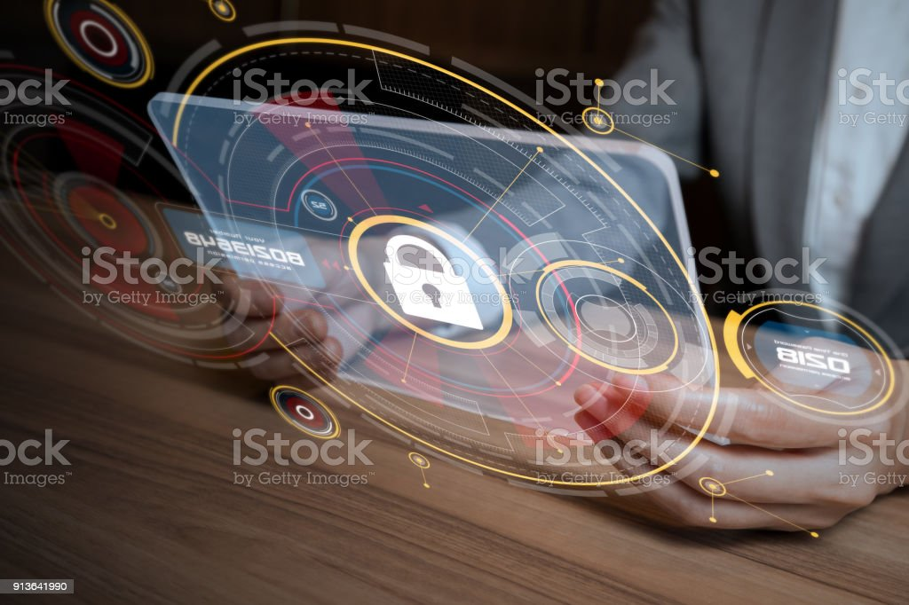 Network security concept. stock photo