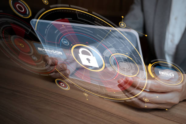 network security concept. - security system stock photos and pictures