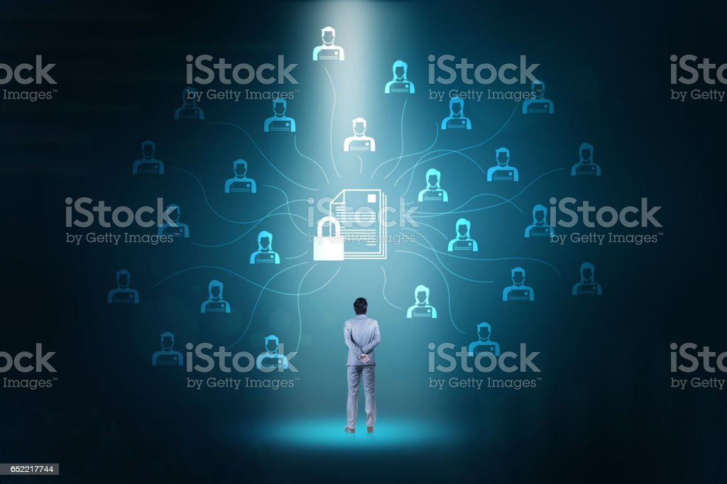 Network security technology. stock photo