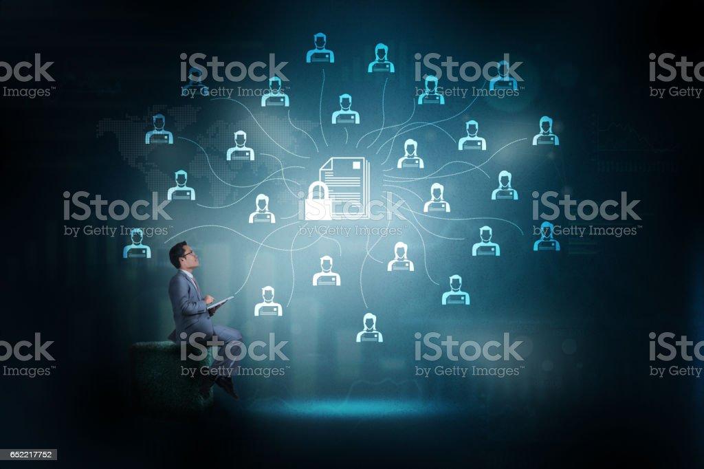 Tecnología de red de seguridad. - foto de stock