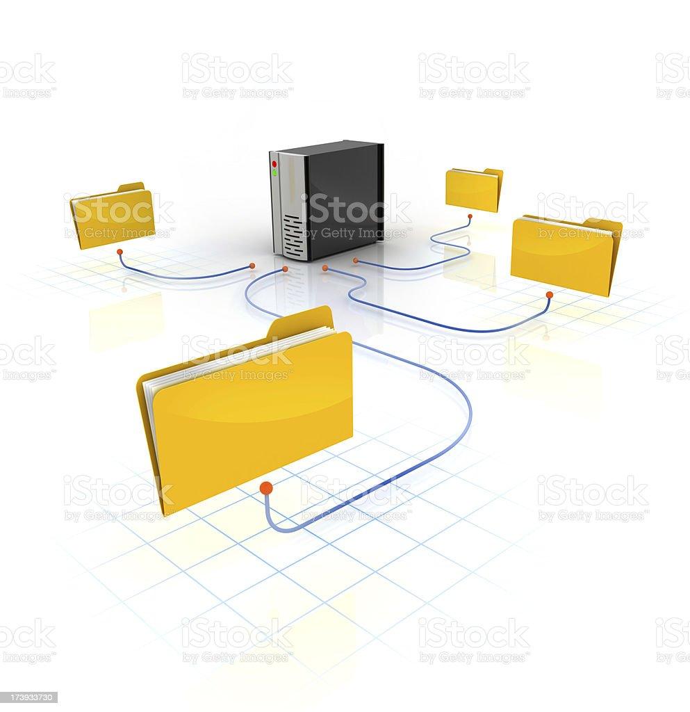 network server - folders royalty-free stock photo