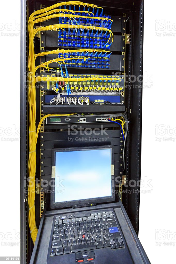 Network Server - Isolated on white royalty-free stock photo