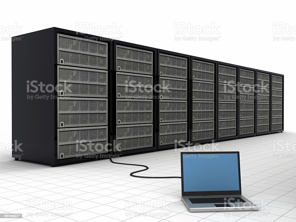 Network Server royalty-free stock photo
