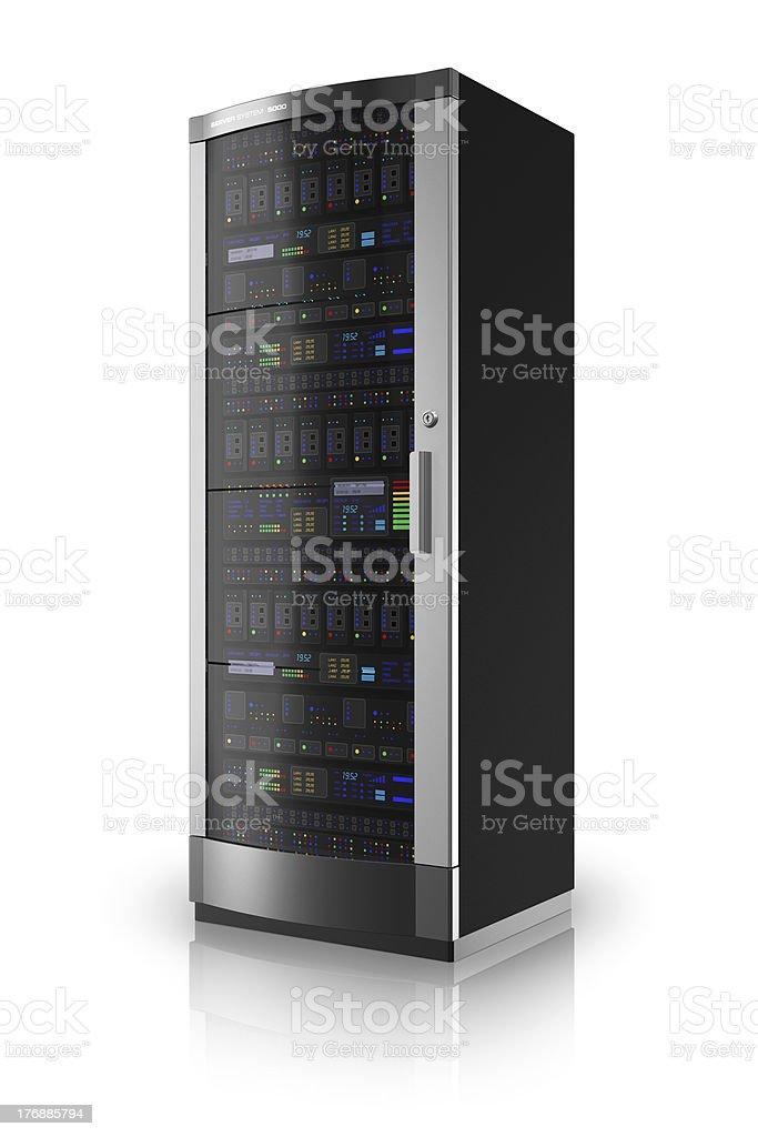 Network server rack stock photo