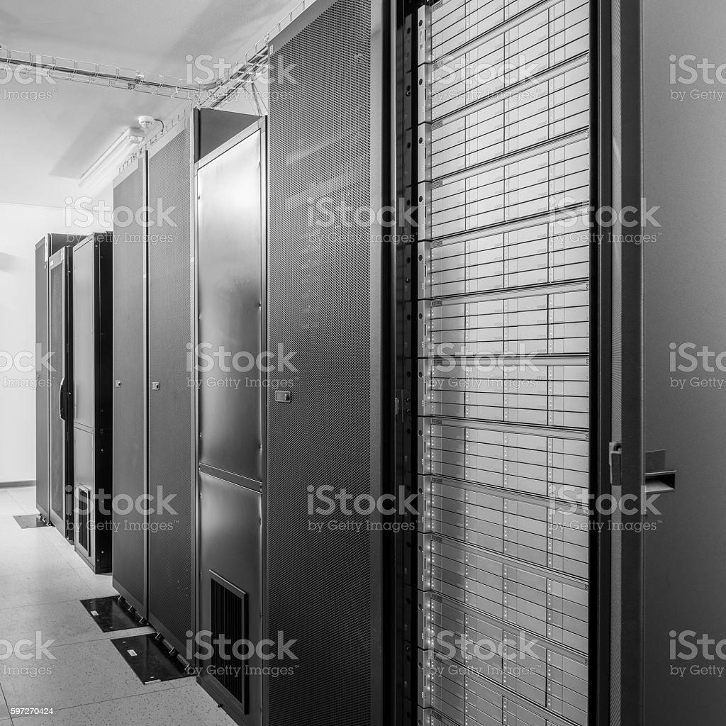 Netzwerk-server-Raum Lizenzfreies stock-foto