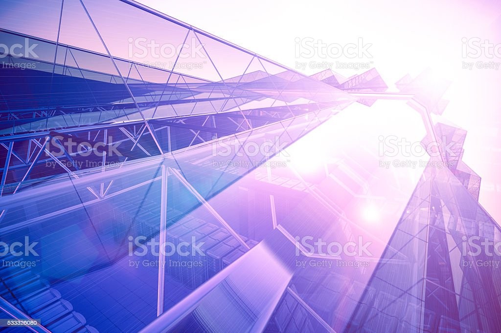 Network servers concepts stock photo