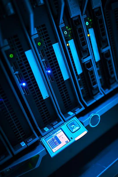 Network servers stock photo