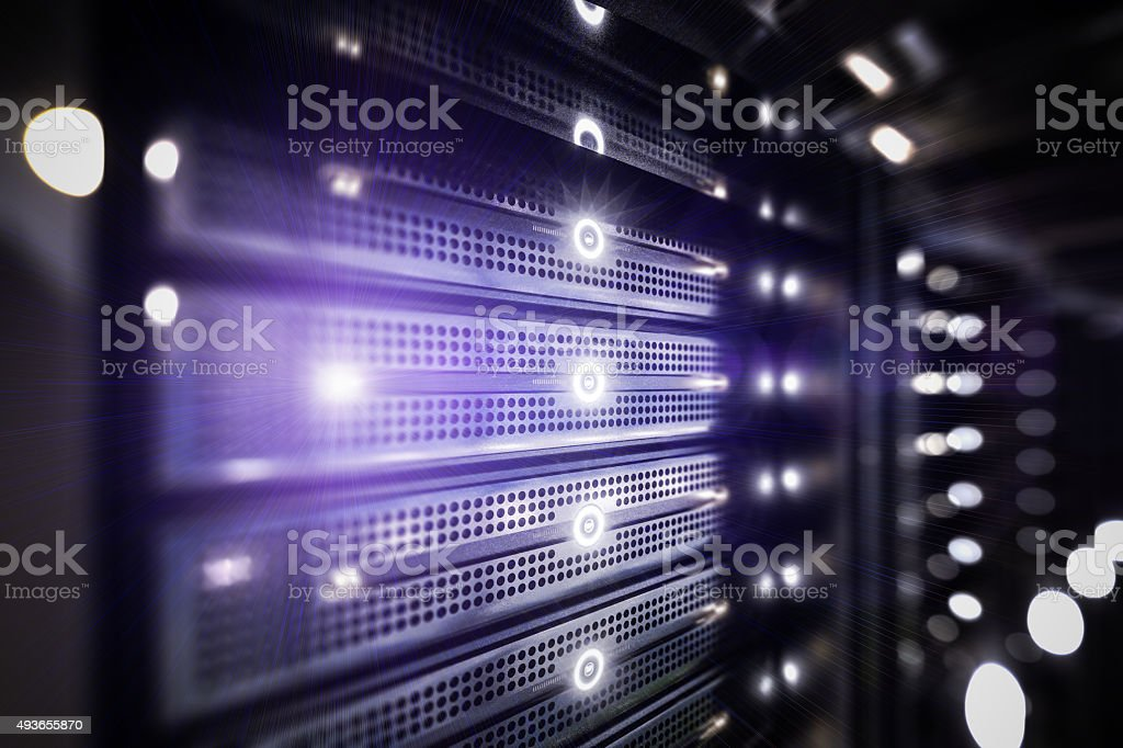Network servers racks stock photo