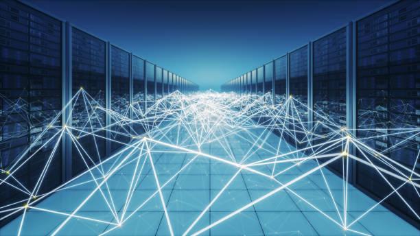 Netzwerk-Server mit Verbindungen – Foto