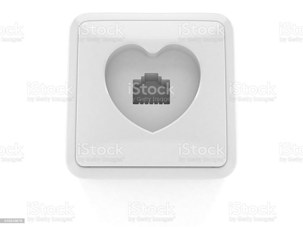 Network socket stock photo