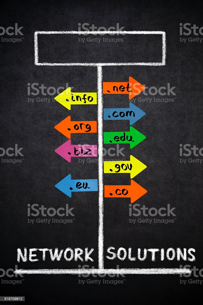 Network solutions stock photo