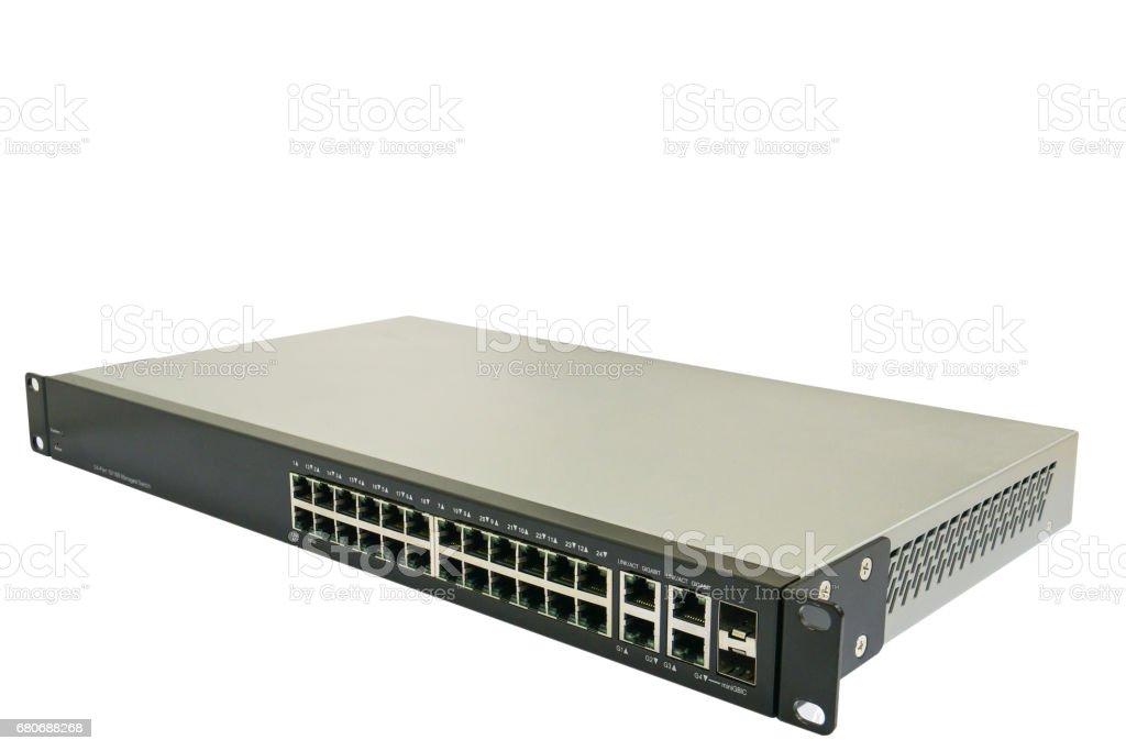 Network switch hub stock photo