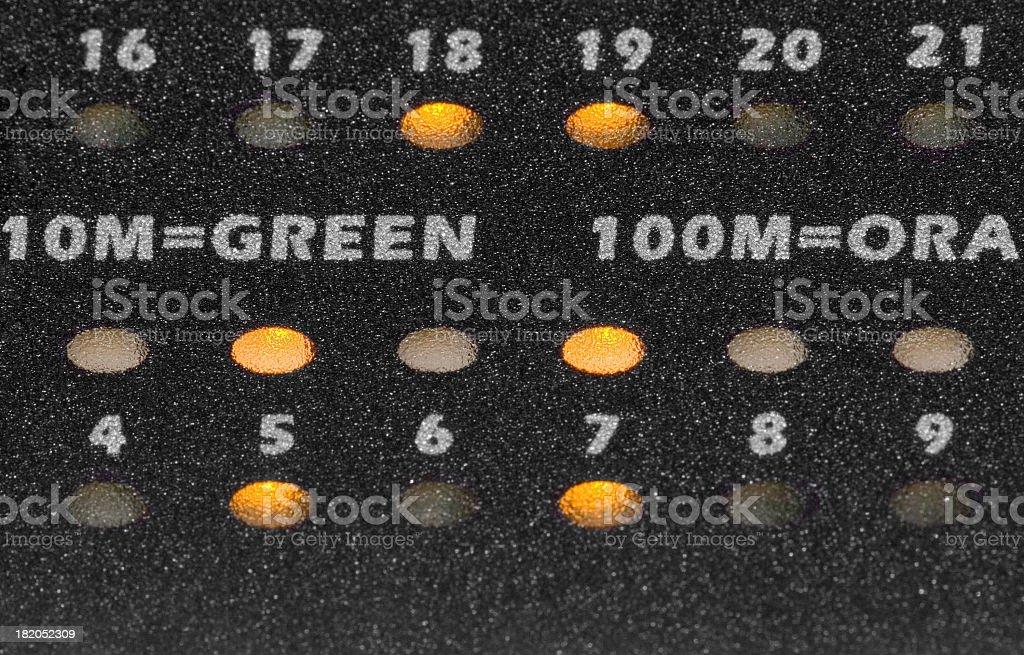 network switch led indicators stock photo