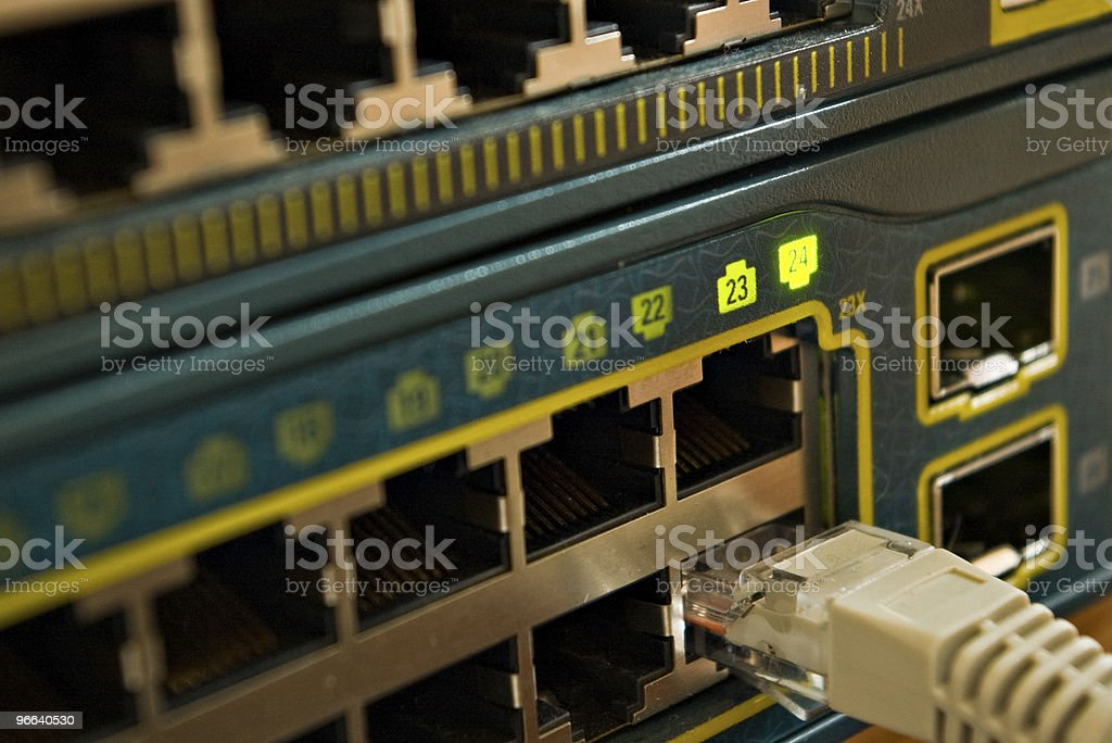 network switch royalty-free stock photo